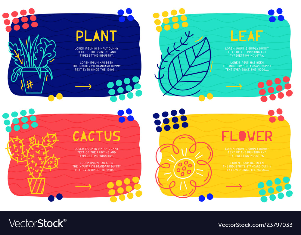 Set abstract landing page pattern with different
