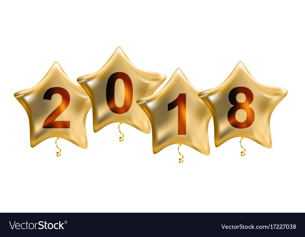 2018 new year colour glossy helium balloons