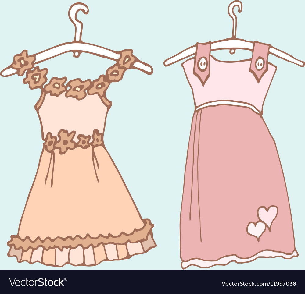 37a656e28 Baby girl dress 1 color Royalty Free Vector Image