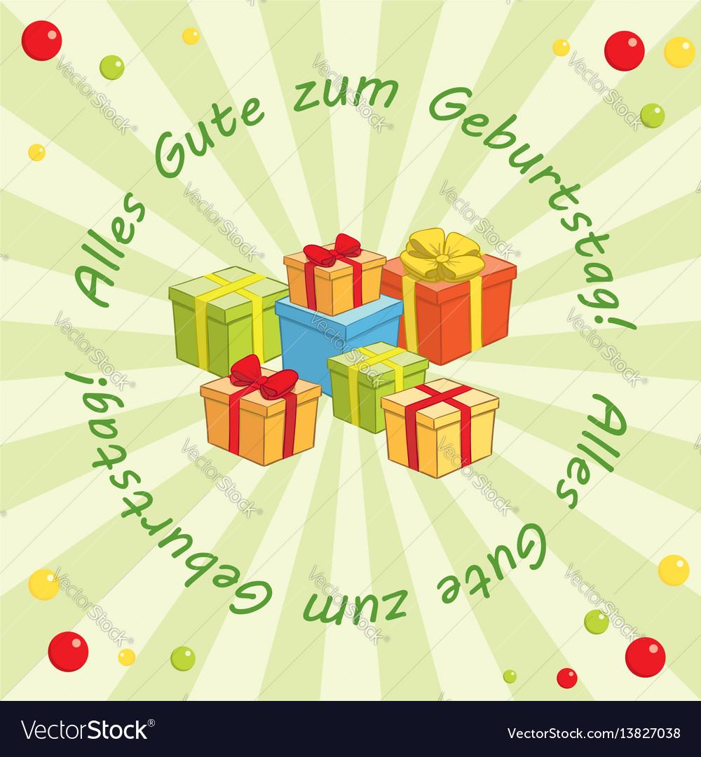 Background Alles Gute Zum Geburtstag Royalty Free Vector