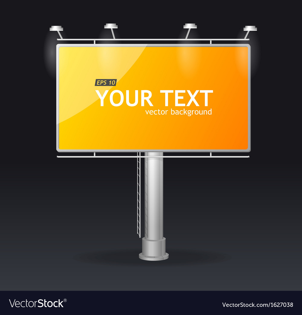 Billboard screen template concept