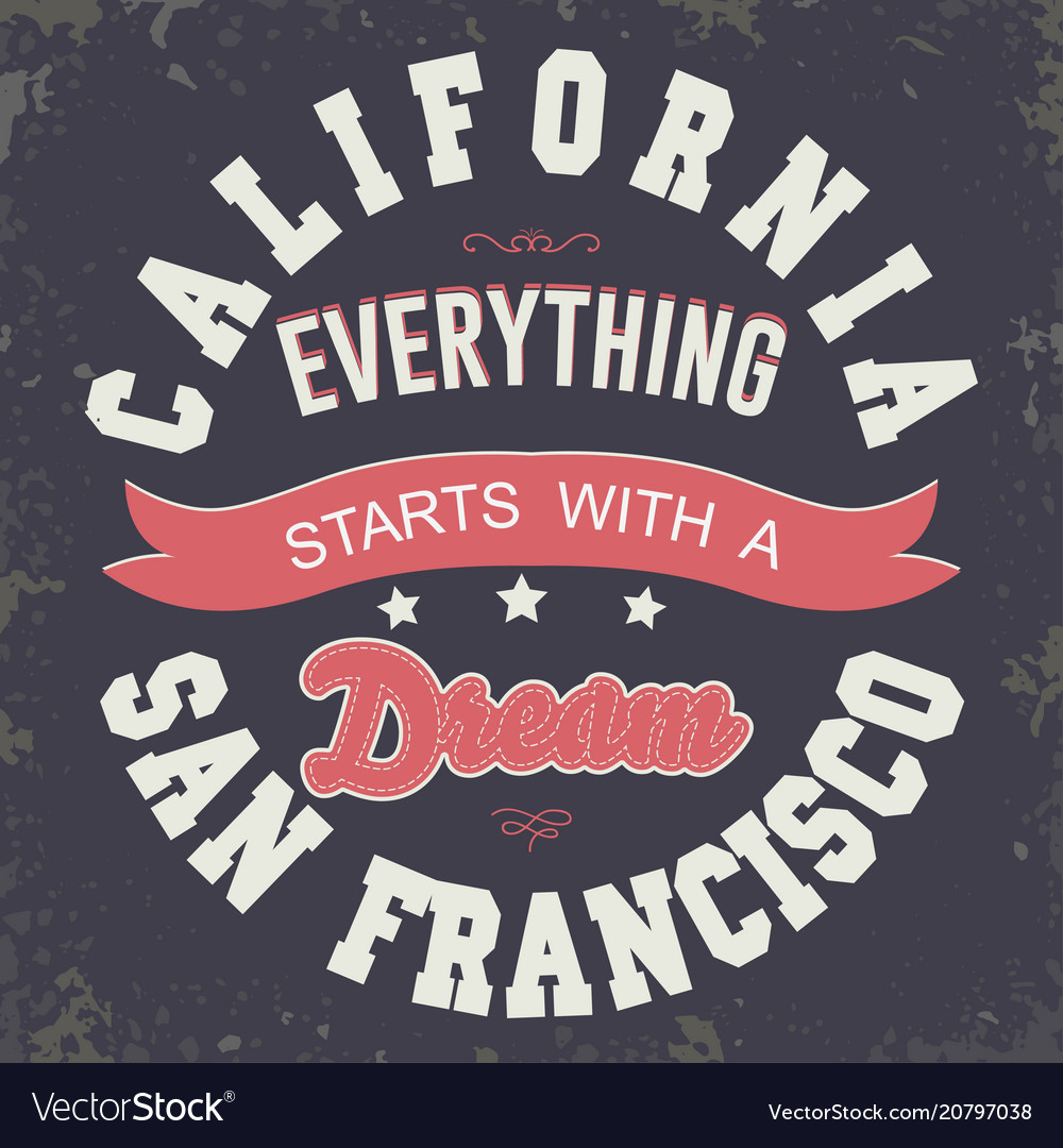California sport t-shirt typography design