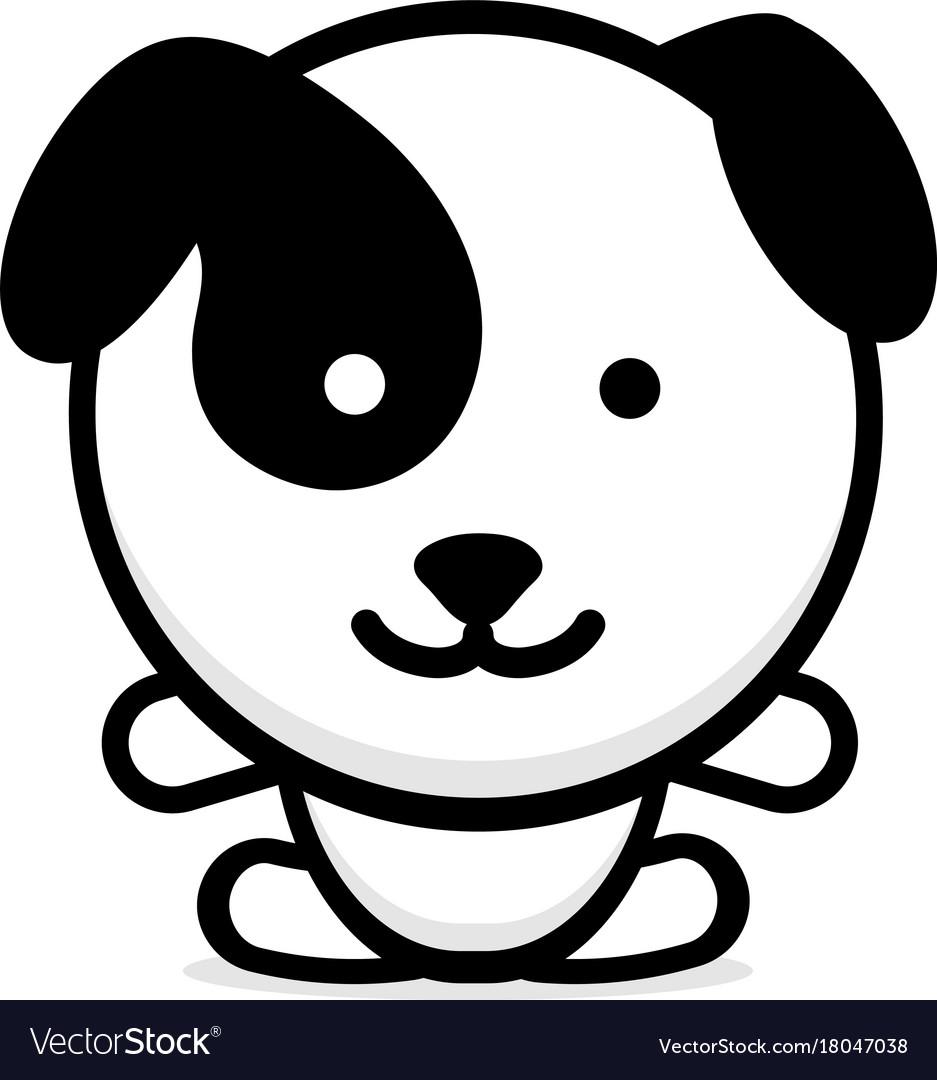 Cute Dog Baby Puppy Logo New Royalty Free Vector Image
