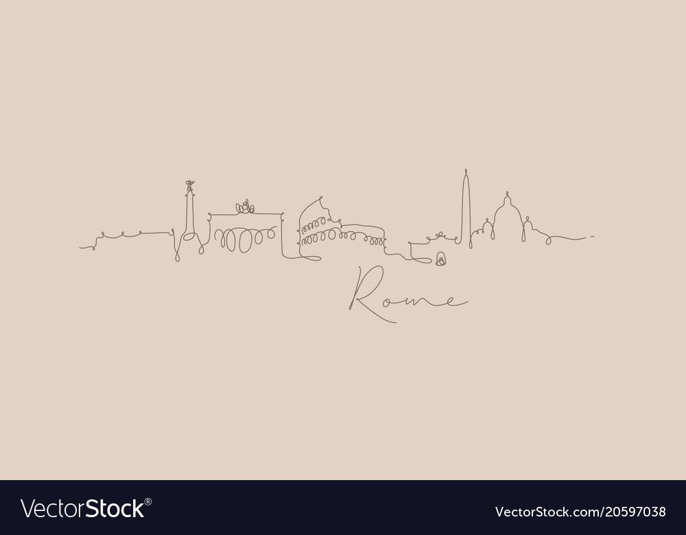 Pen line silhouette rome beige