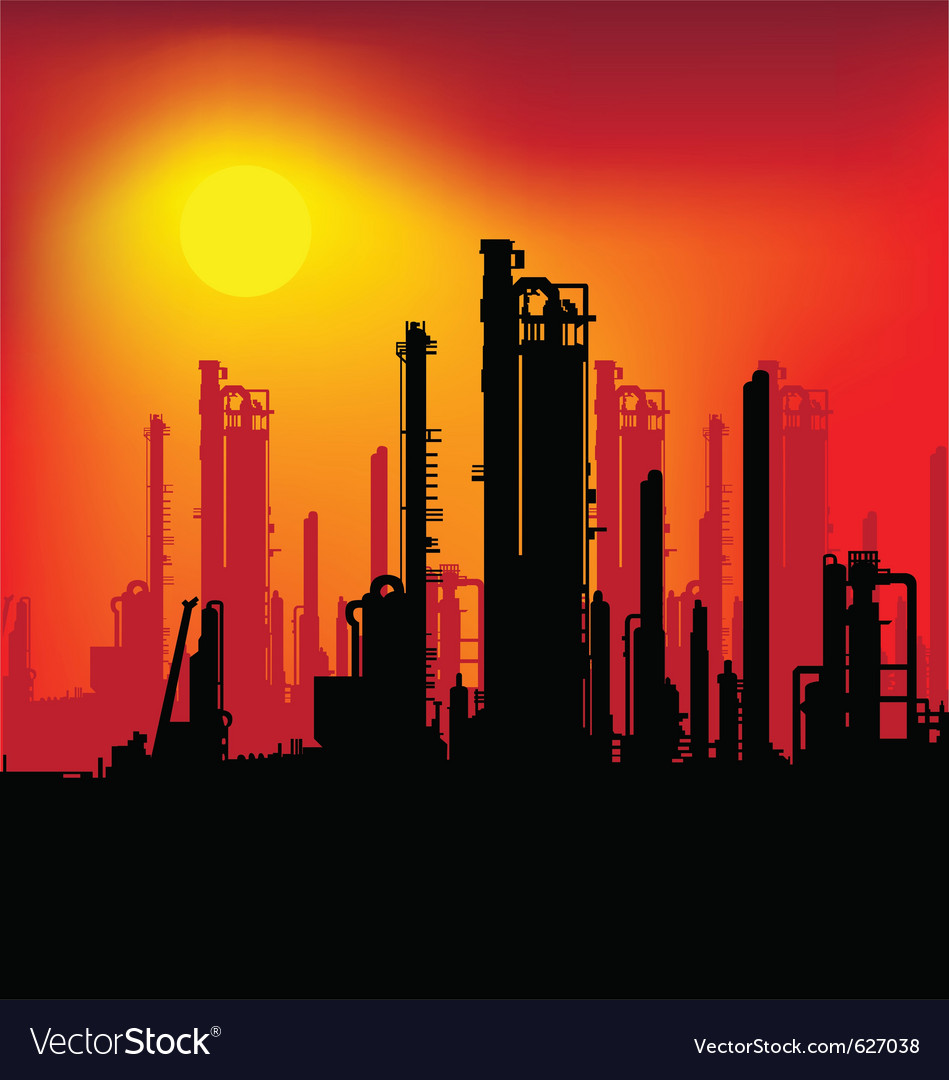 Refinery plant vector image