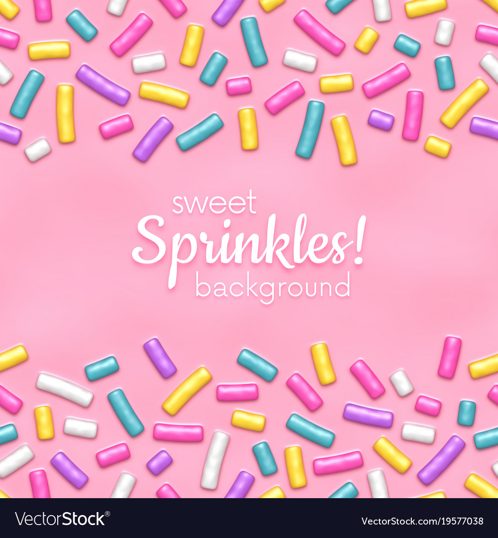 Seamless background with many decorative sprinkles