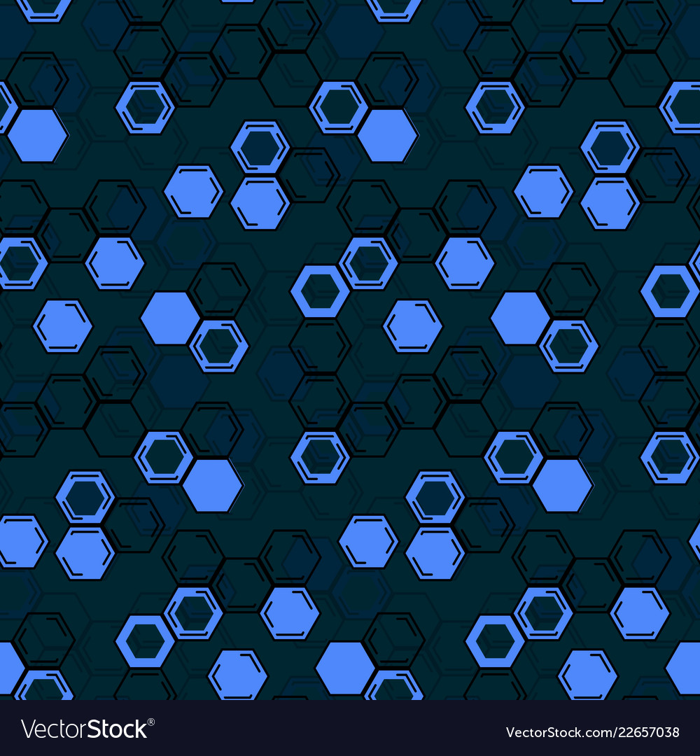 Seamless repeating honeycomb background