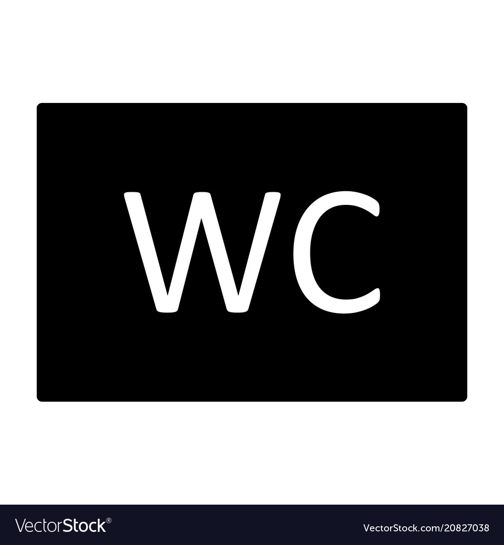 Wc toilet icon simple minimal 96x96 pictogram