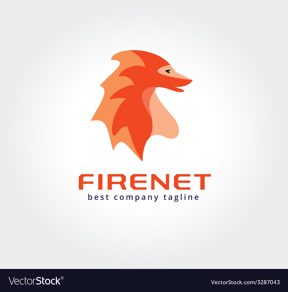Abstract dragon monster logo icon concept Logotype vector image