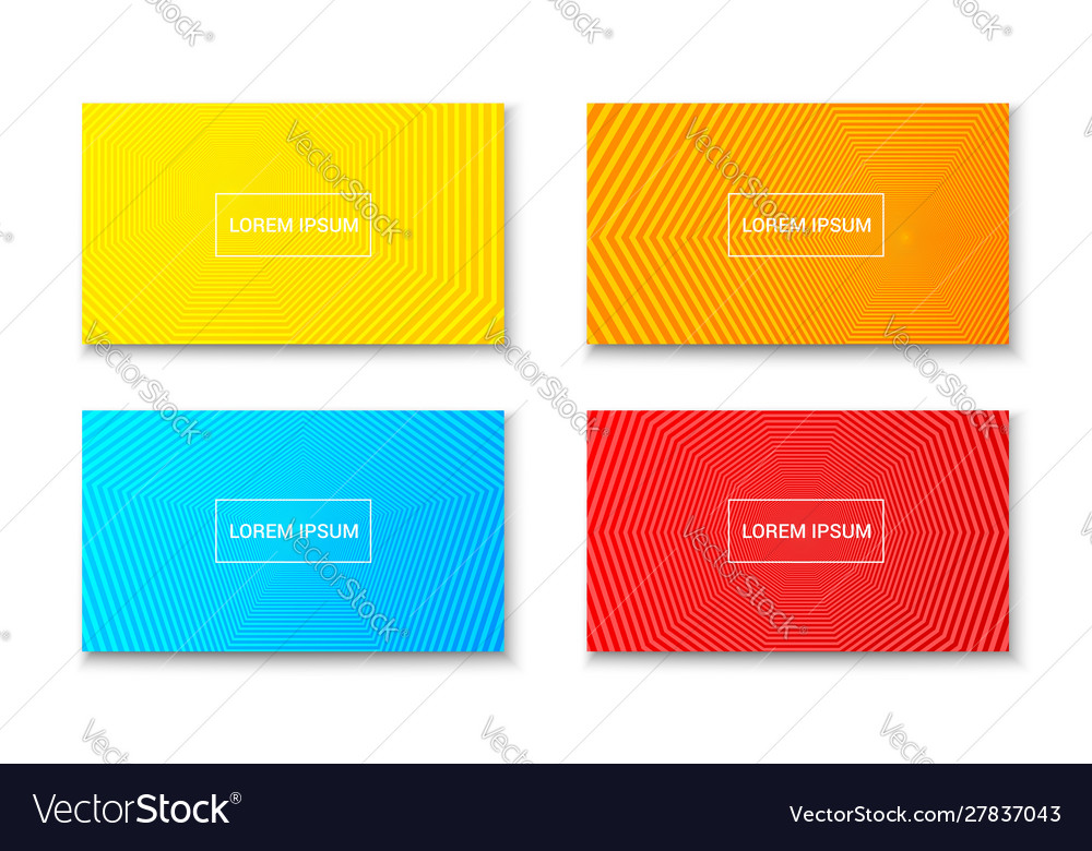 Abstract trendy banners composition