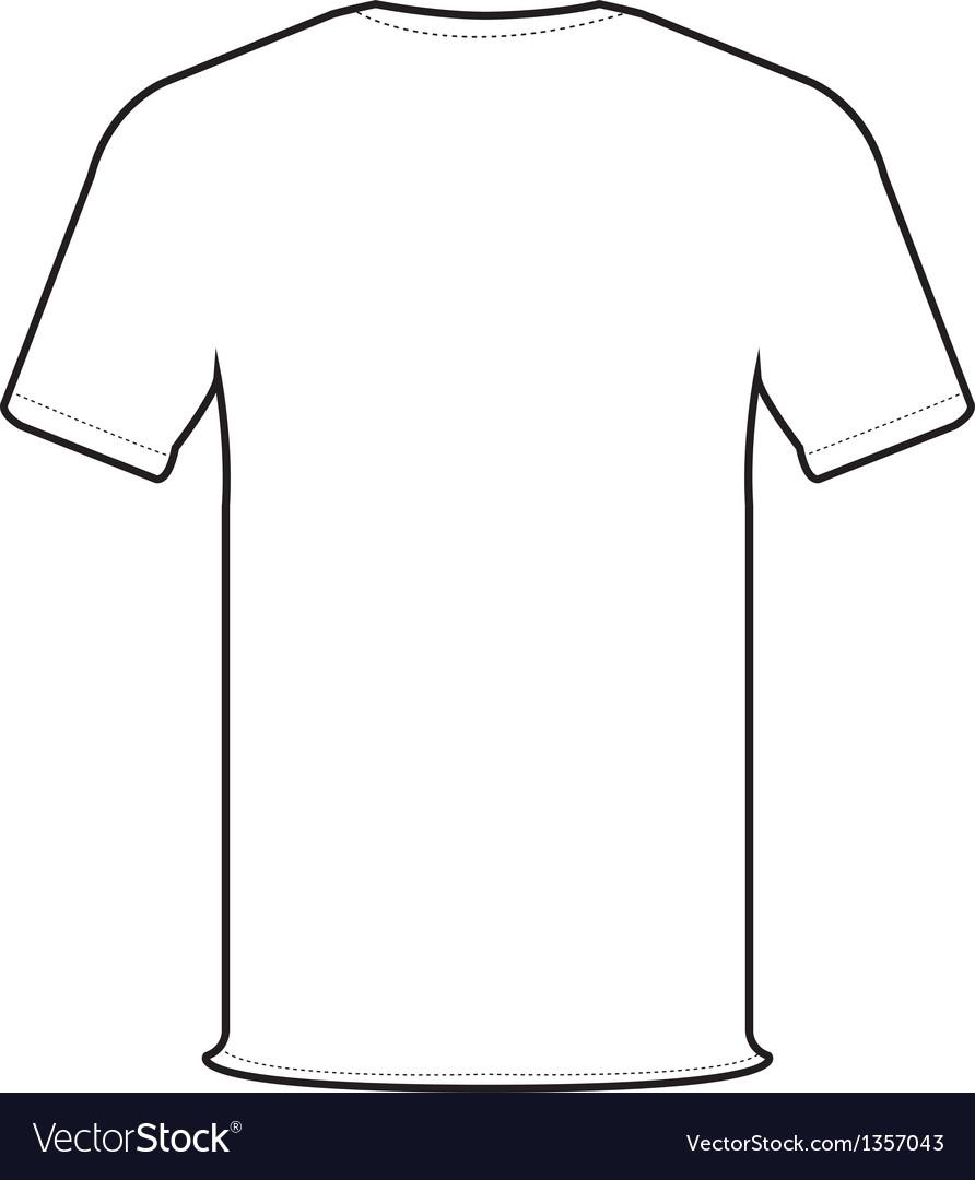 Tee Shirt Design Template Illustrator: Back T-shirt Royalty Free Vector Image