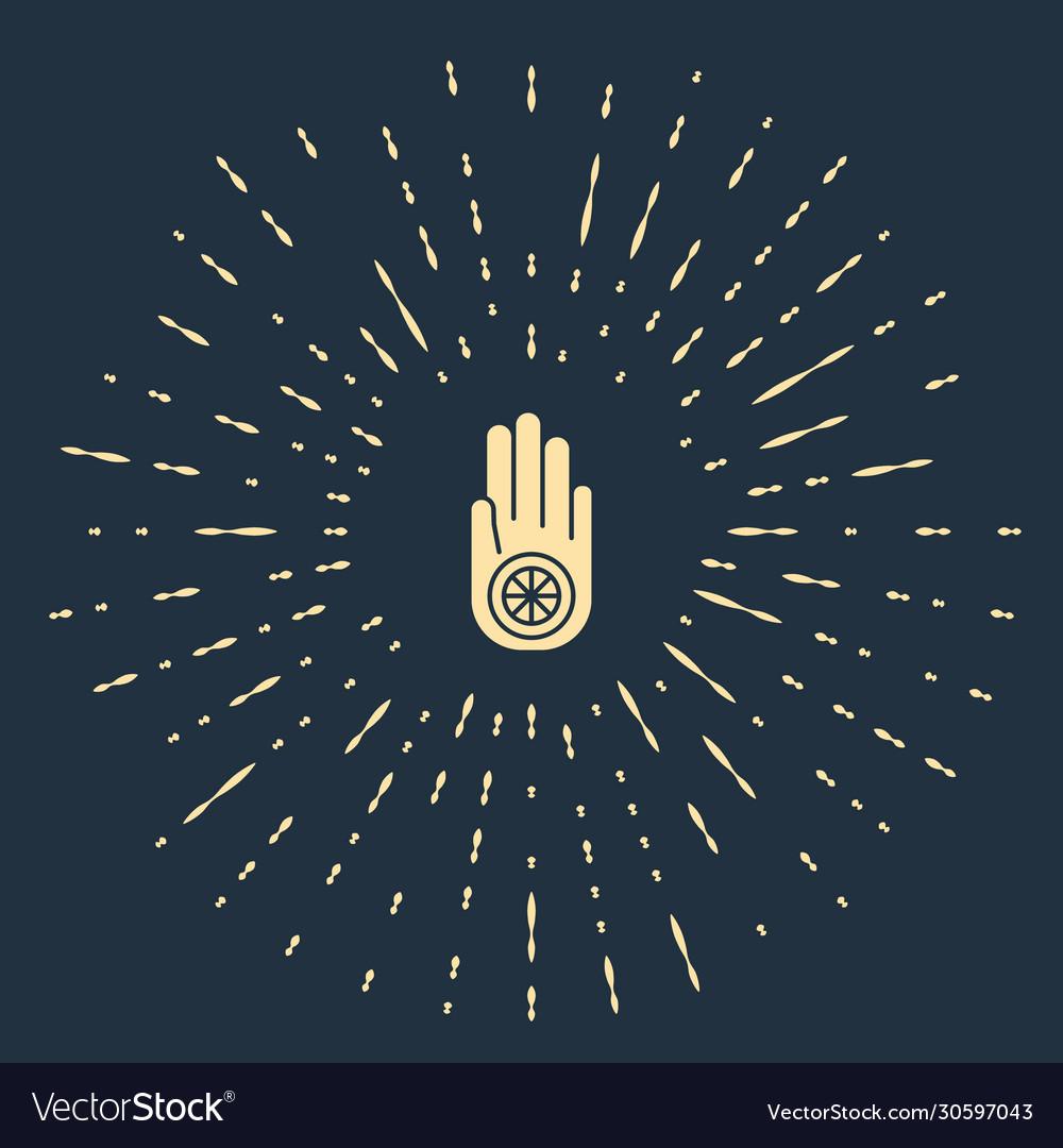Beige symbol jainism or jain dharma icon