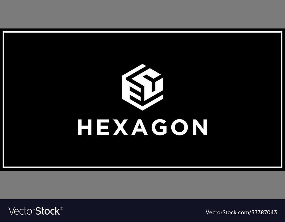 Ec hexagon logo design inspiration