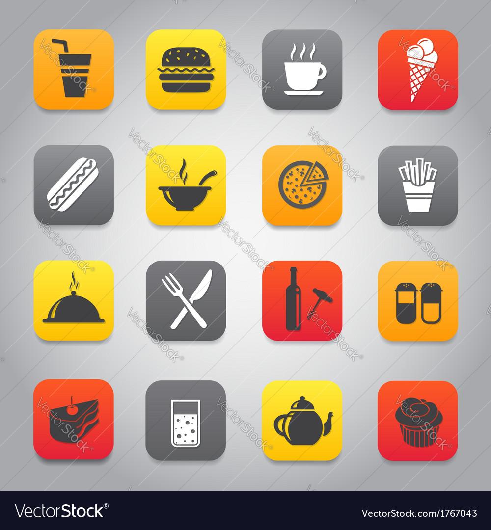 Flat and stylish design icon set