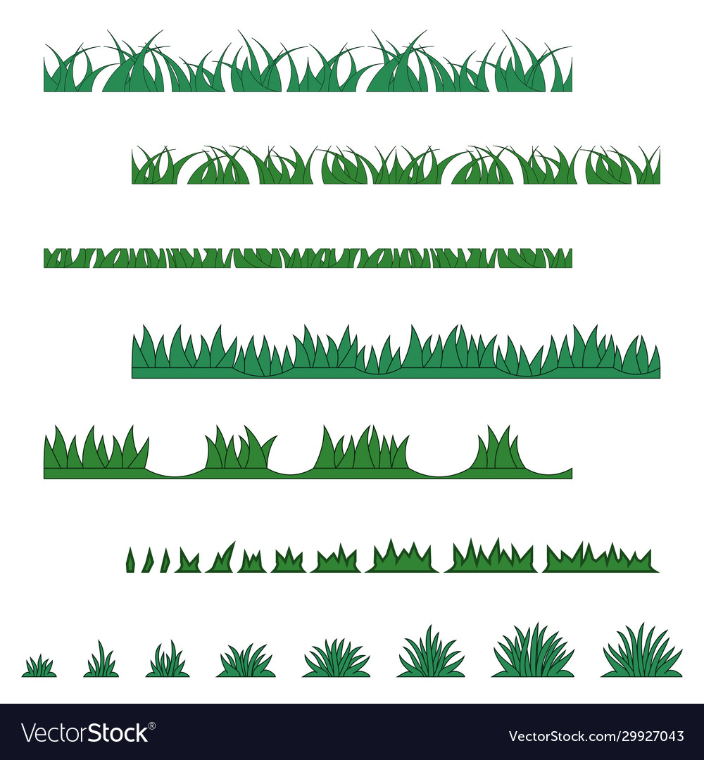 Grass collection various types
