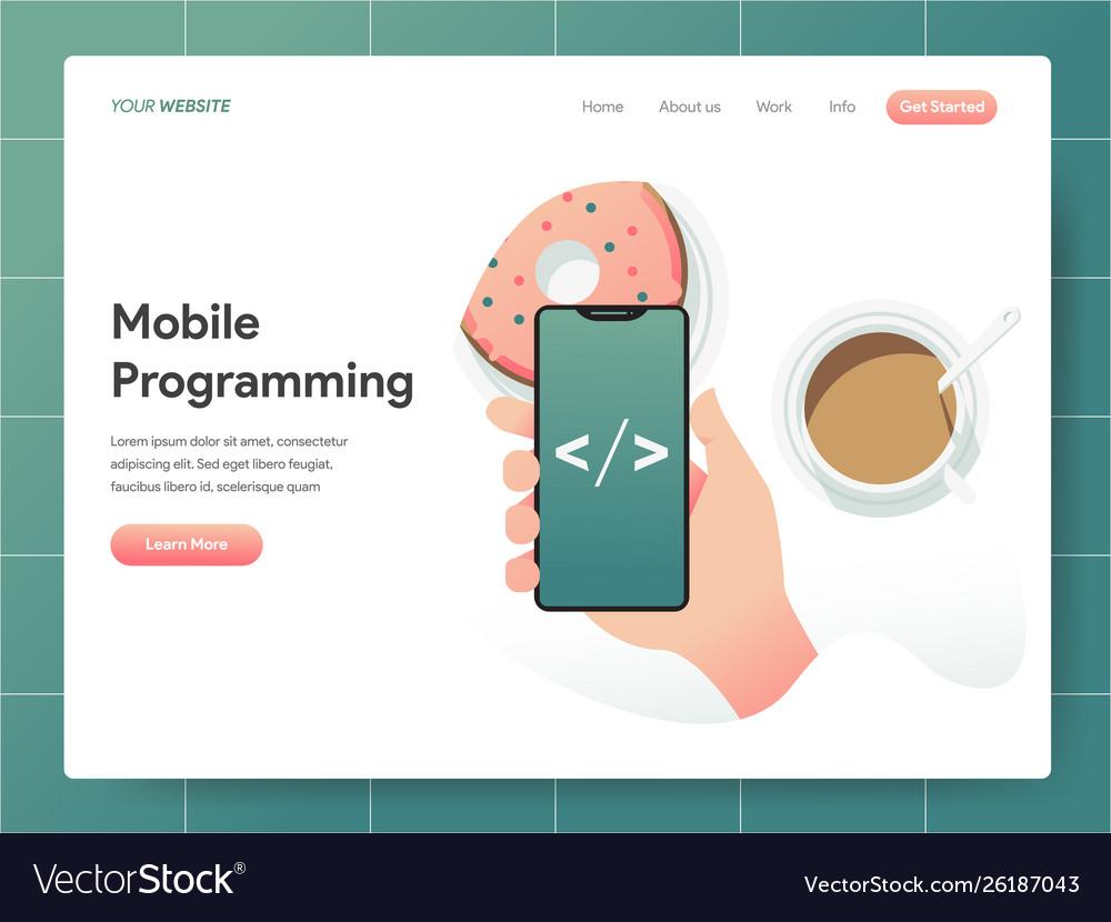 Mobile programming concept modern design concept