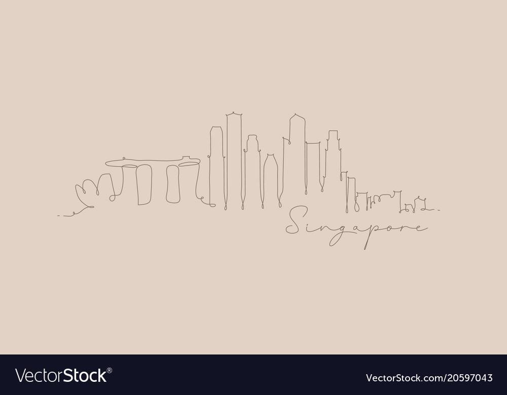 Pen line silhouette singapore beige