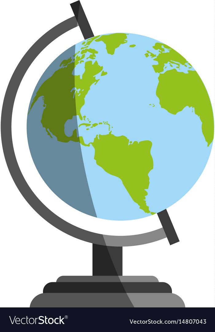 Planet earth globe icon image vector image
