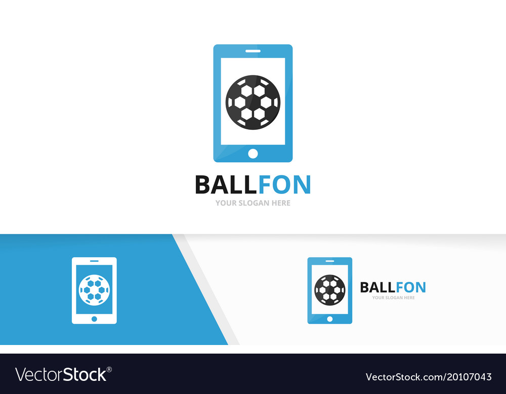 Soccer and phone logo combination ball and