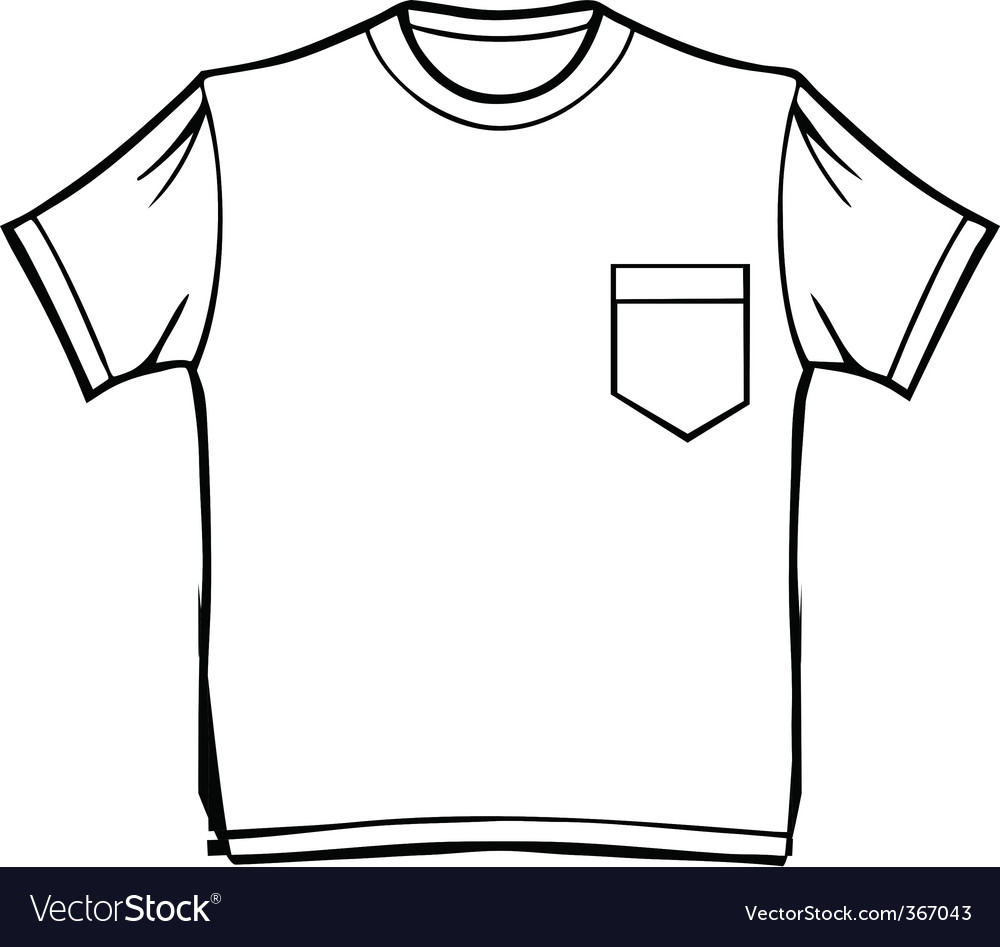 T-shirt with pocket vector