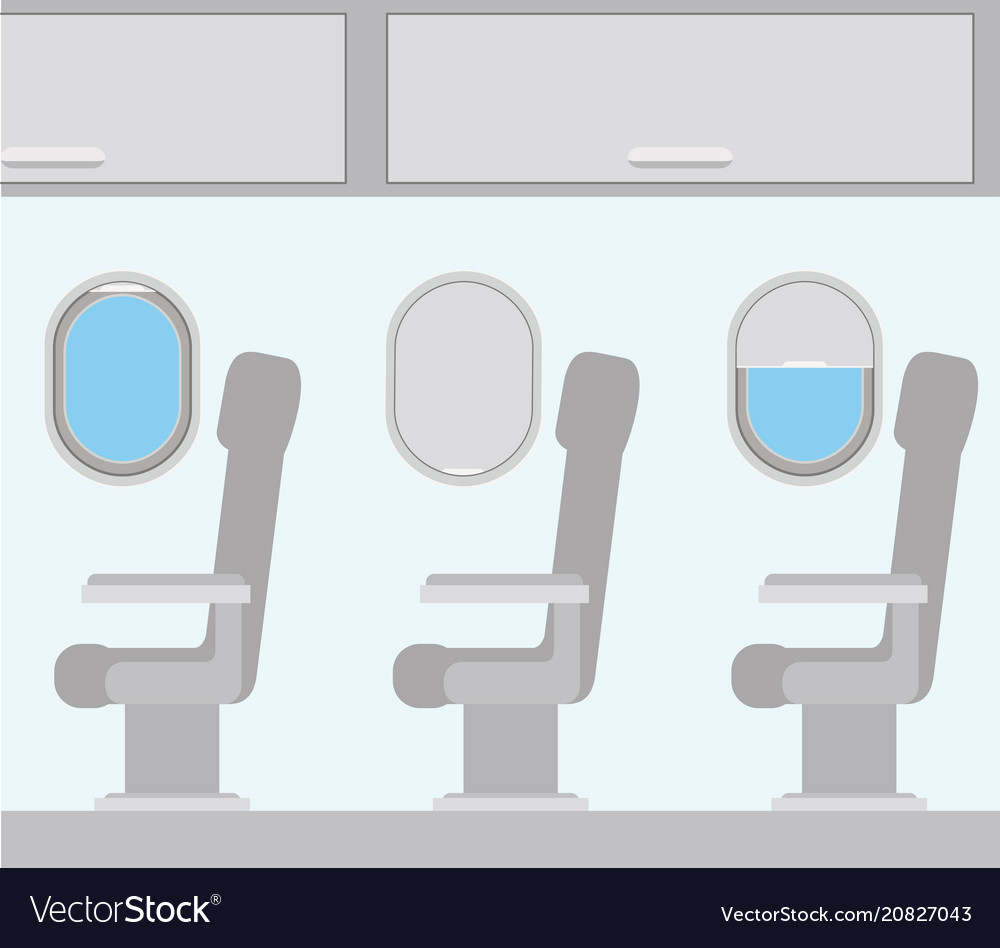 Windows Airplane With Chairs Vector Image