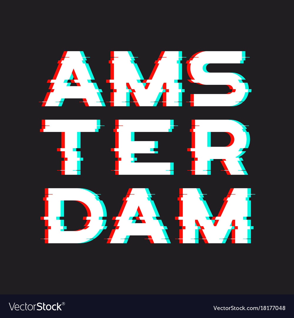 Amsterdam t-shirt and apparel design with noise vector image