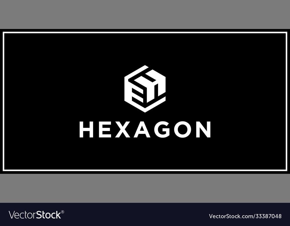 Eh hexagon logo design inspiration