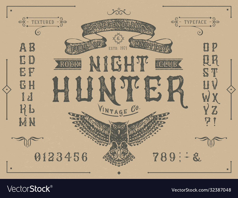 Font miracle craft retro vintage typeface design