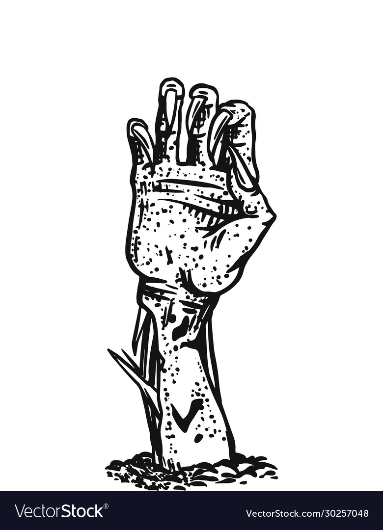 Hand dead halloween creeping zombie
