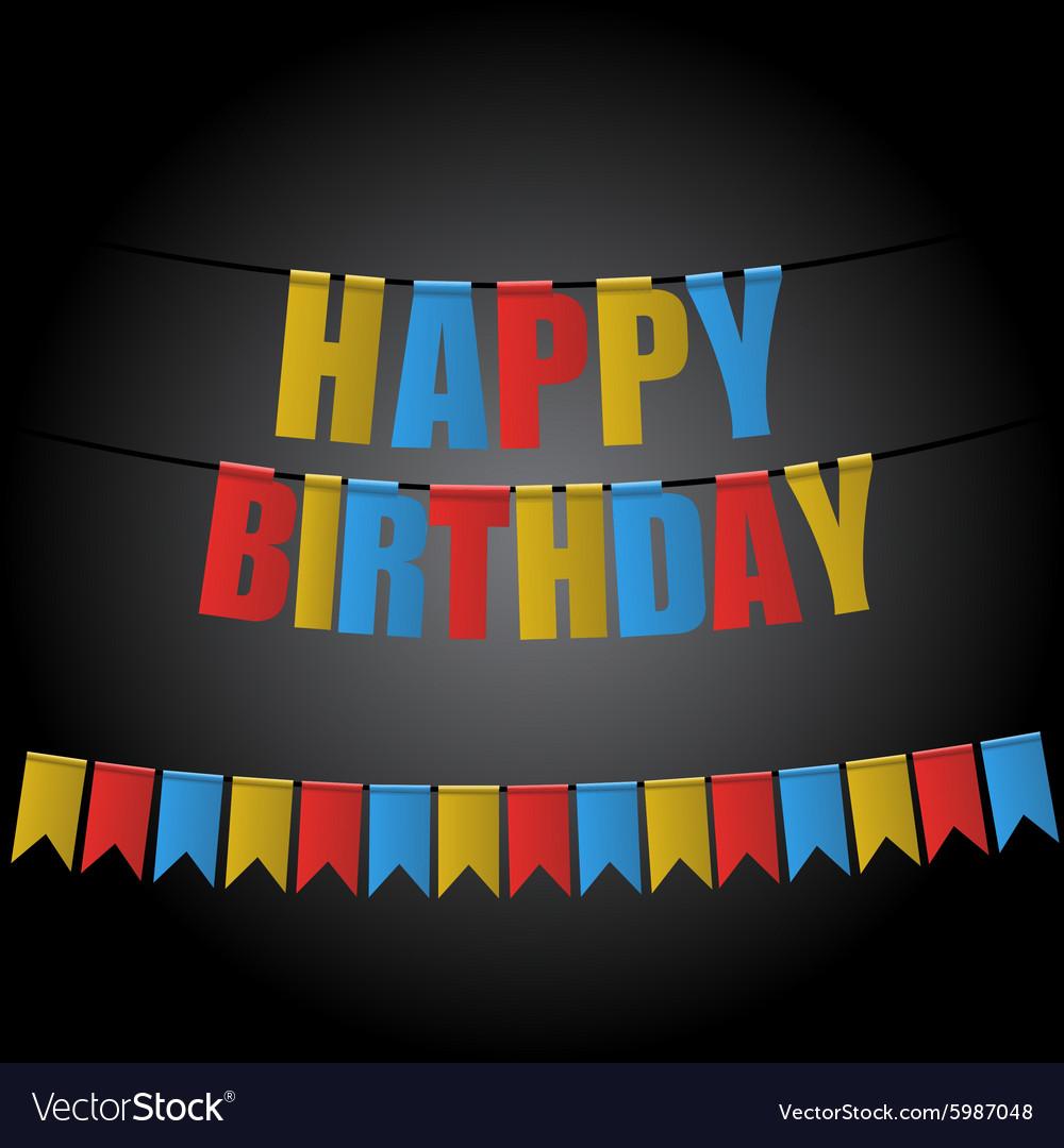 Happy birthday card carnival flag