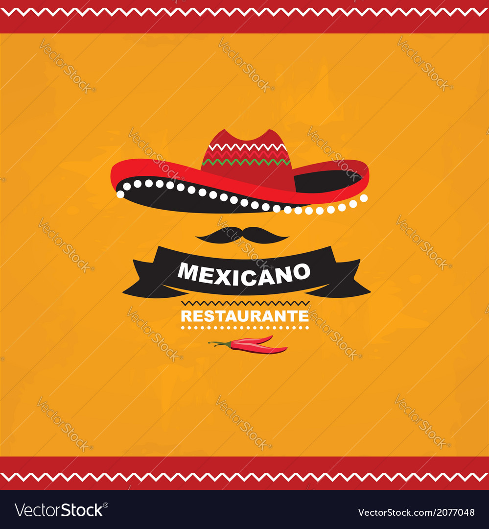 Menu mexican template design