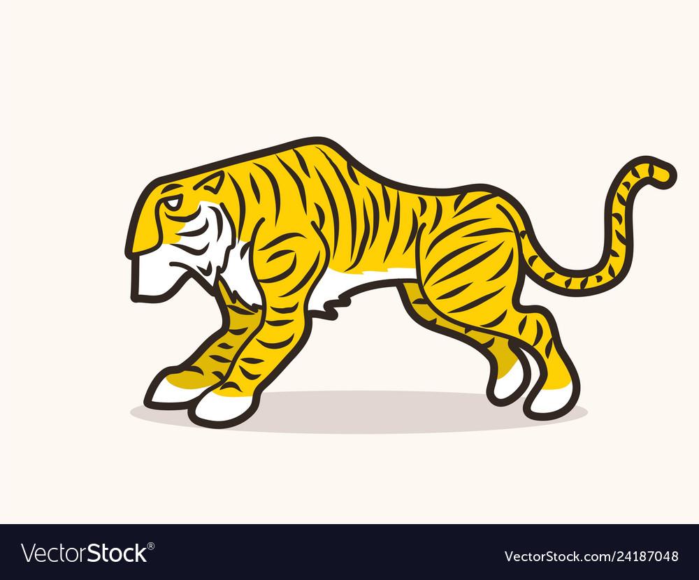 Tiger cartoon graphic