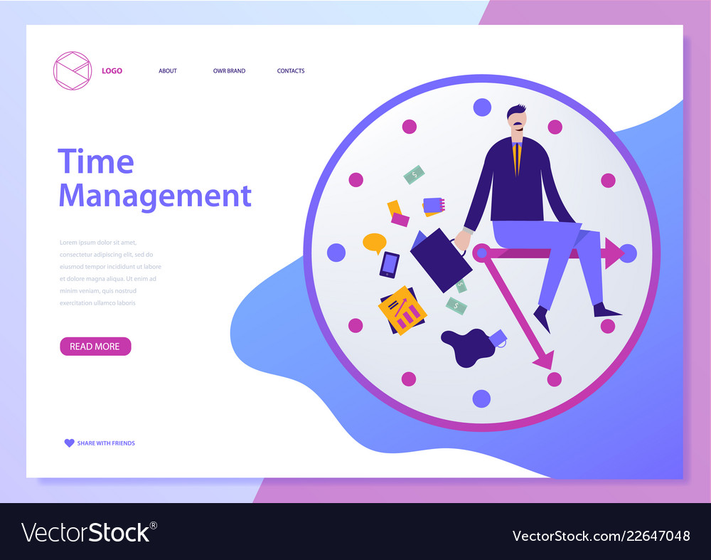 Web Page Design Template For Project Royalty Free Vector