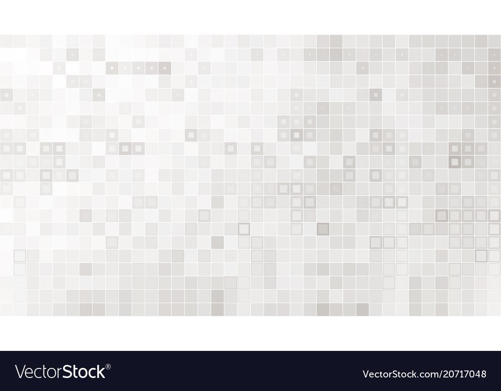 White squared mosaic seamless pattern