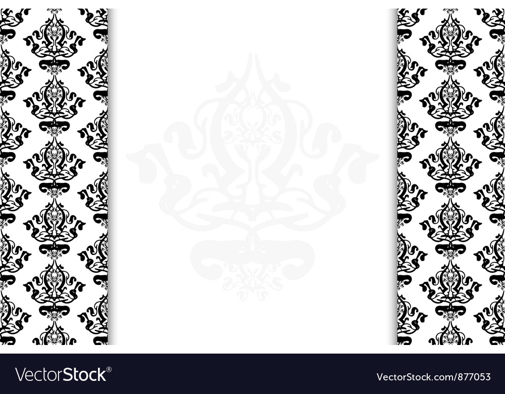 Black and white vintage background vector image