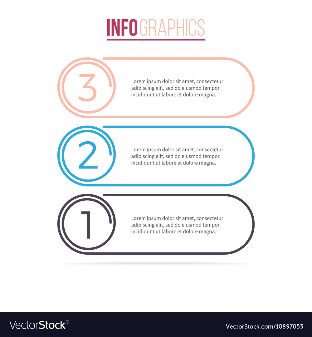 Business infographics List with 3 options
