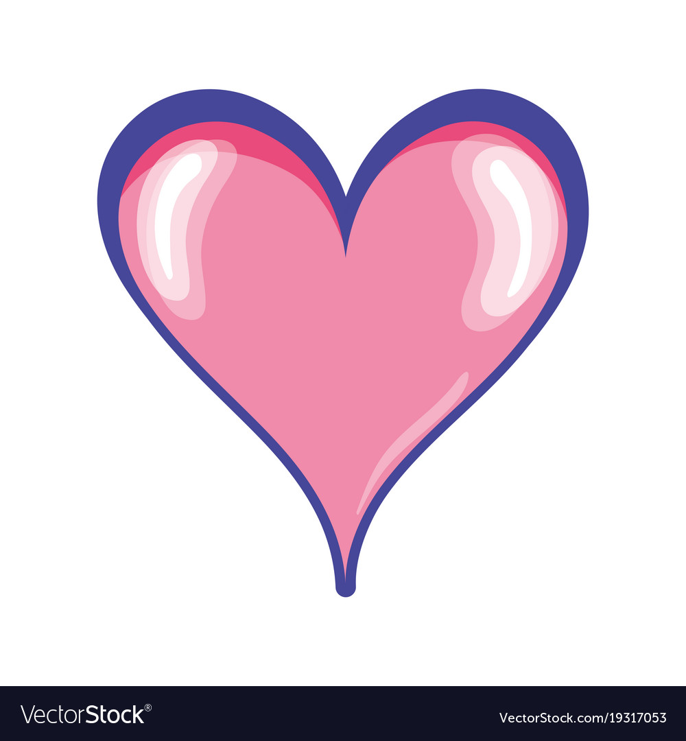Cute Heart Symbol Of Passion And Love Royalty Free Vector