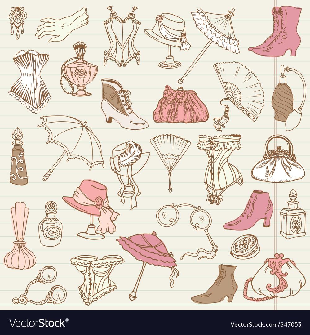 Ladies Fashion vector image