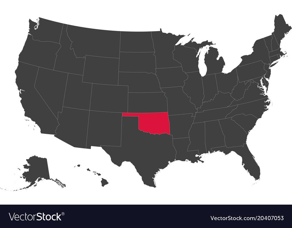 Map of usa - oklahoma
