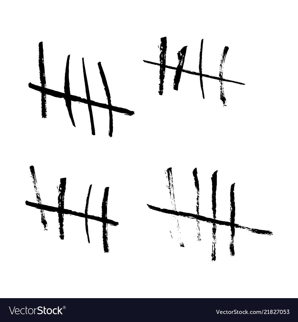 tally marks royalty free vector image vectorstock