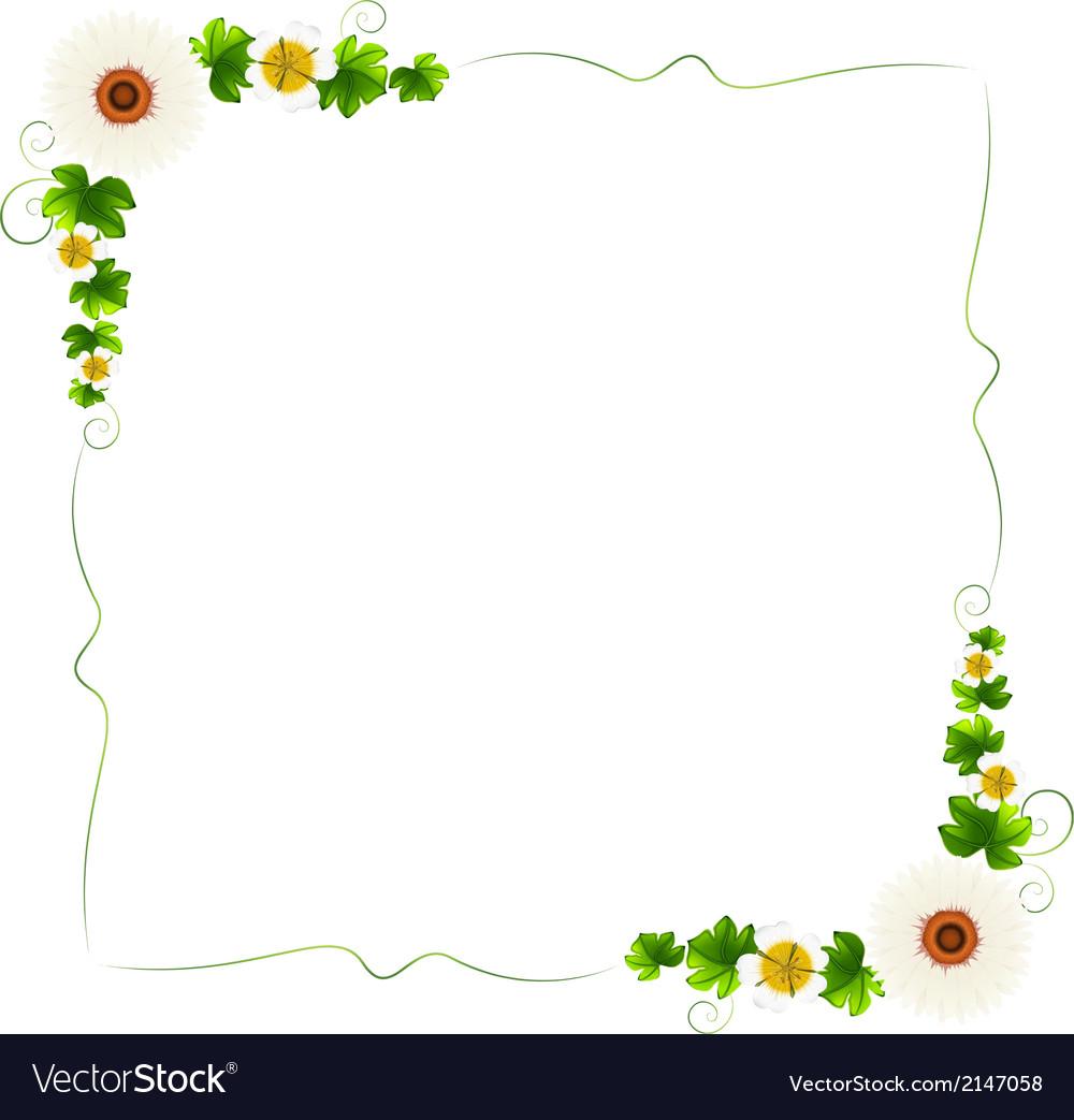 A floral border