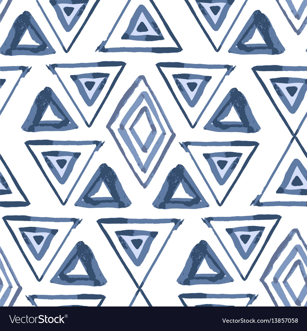 Abstract hand drawn simple ethnic seamless