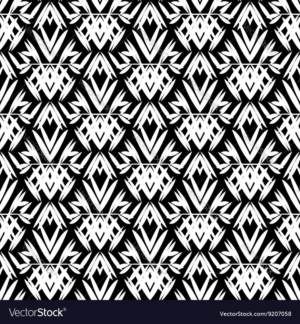 Art deco black and white pattern