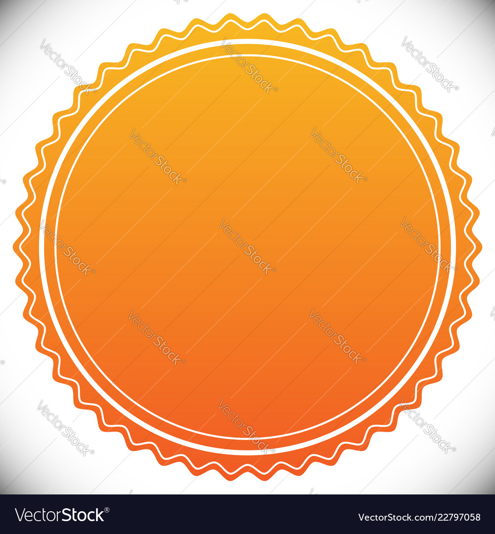 Blank Empty Stamp Seal Or Badge Template Vector Image