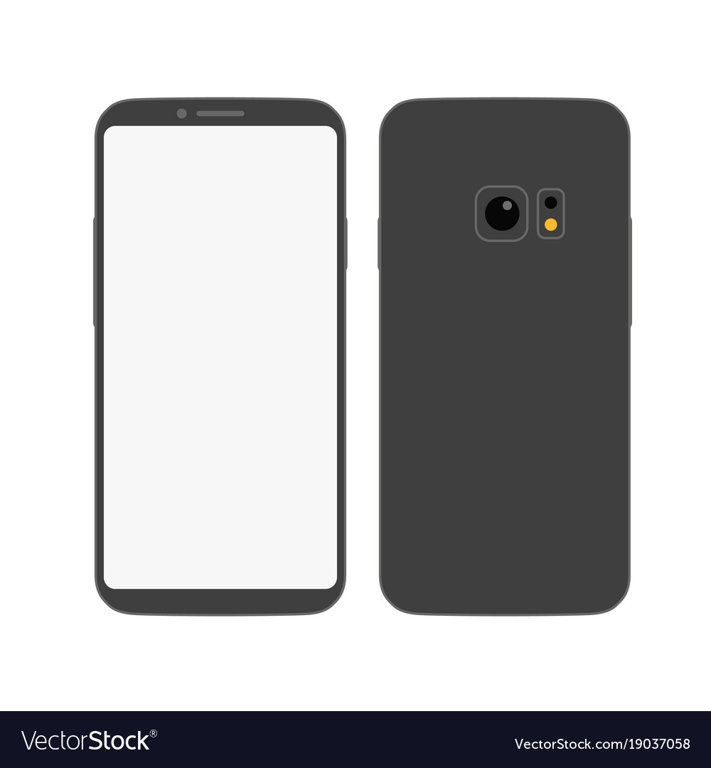 Modern frameless smartphone mockup abstract style