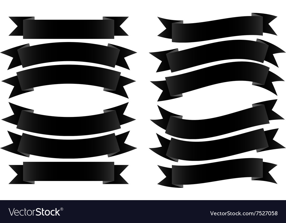 Ribbon banner black