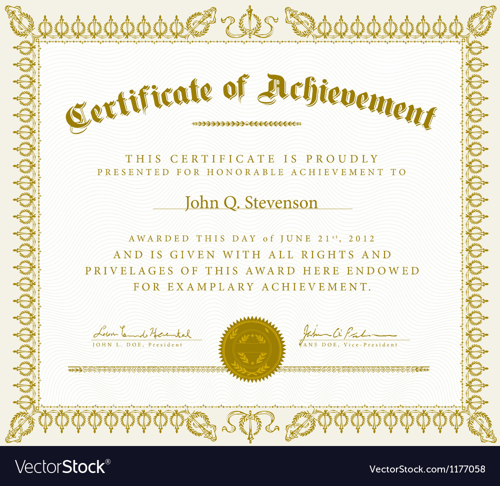 ribbon frame or certificate vector image