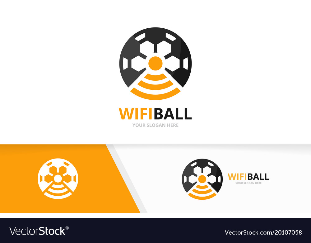 Soccer and wifi logo combination ball and