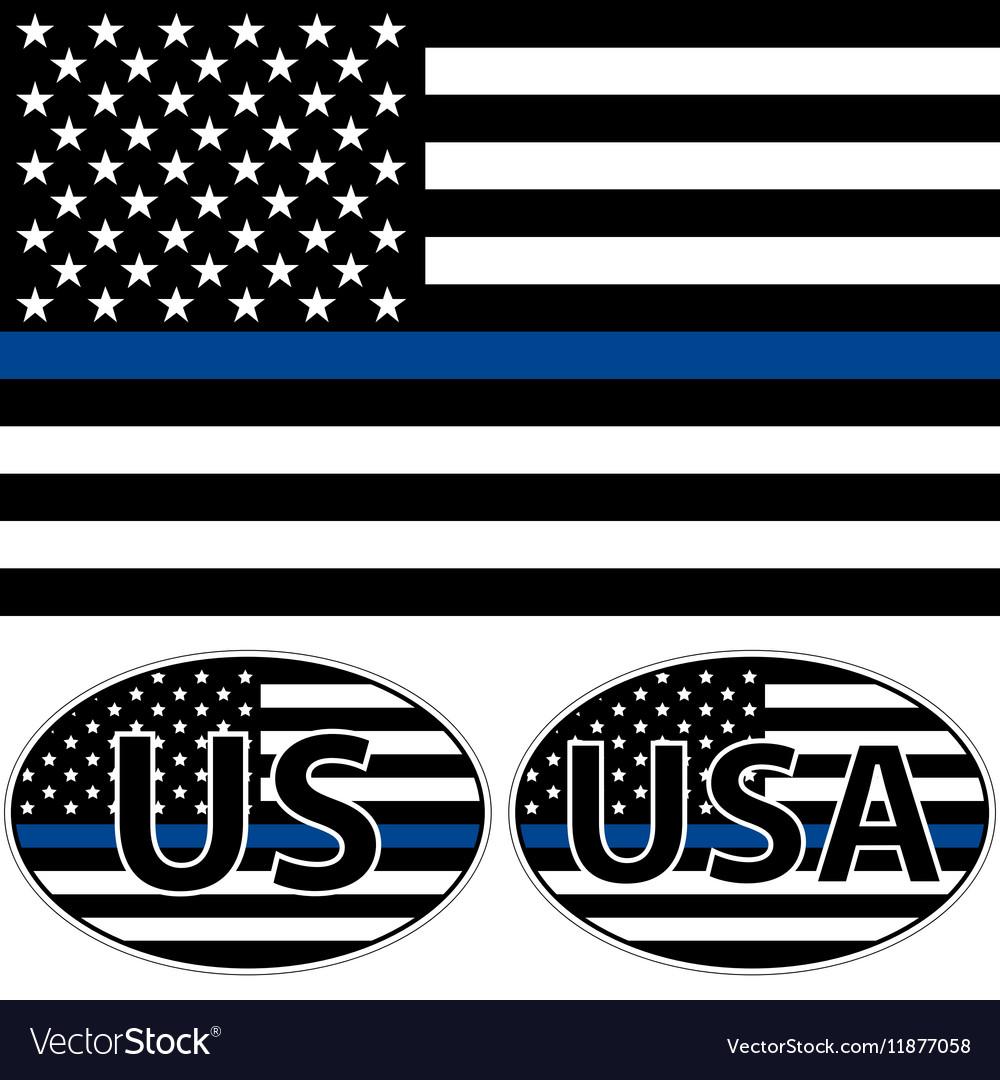USA flag blue stripe