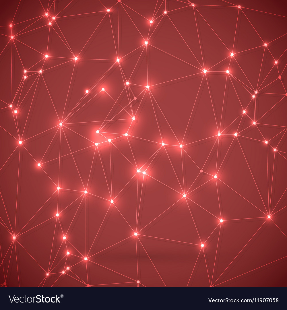 Wireframe Technology Background Chemistry Molecule vector image